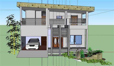 desain rumah bertingkat menggunakan google sketchup