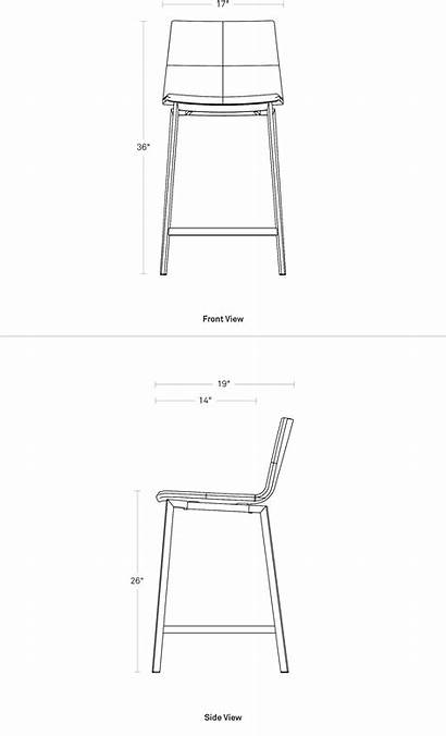Stool Counter Between Dimensions Chair Barstool Blu