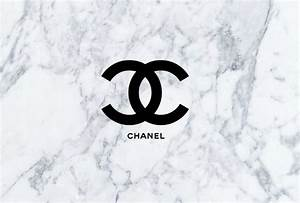 chanel logo with a marble background. This is perfect for ...