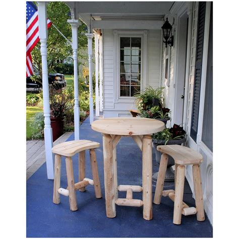 lakeland mills balcony table with two benches 307366