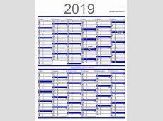Calendario 2018 2019 2020 para imprimir pdf en español