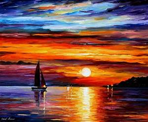 QUIET SUNSET — PALETTE KNIFE Oil Painting On Canvas By