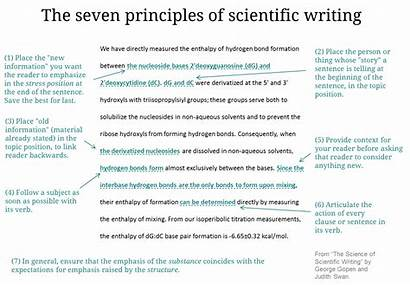 Writing Example Clues Science Scientific Principles Examples