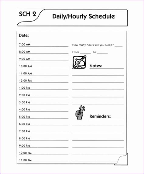 excel daily schedule template exceltemplates
