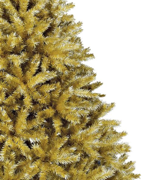 toasted chagne gold tinsel artificial christmas tree