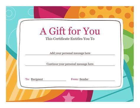 birthday gift certificate bright design
