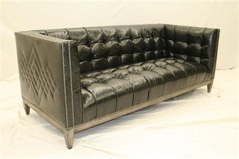 tufted leather sectional sofa 7 cool black leather tufted sofa custom stitching