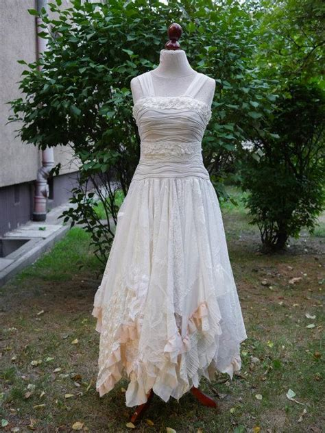 shabby chic wedding attire upcycled wedding dress fairy tattered romantic dress upcycled woman s clothing shabby chic funky