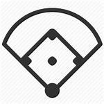 Baseball Icon Field Stadium Sports Arena Icons
