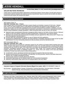 Desktop Support Analyst Resume Exles by Senior Help Desk Analyst Resume Help Desk