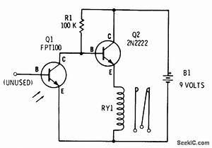phototransistor relay relay control control circuit With photocell circuits audiocircuit circuit diagram seekiccom