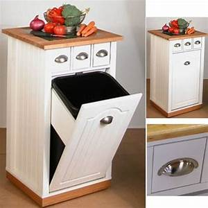 Meuble Poubelle Cuisine : cuisine haut de gamme meuble en bois 3 en 1 range ~ Dallasstarsshop.com Idées de Décoration