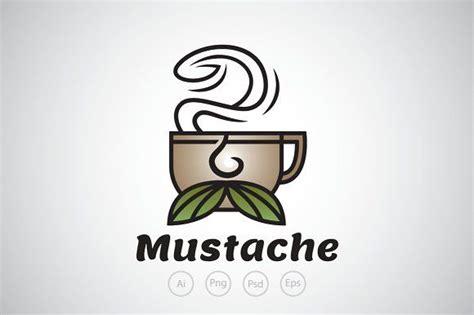 Mustache Coffee Logo Template