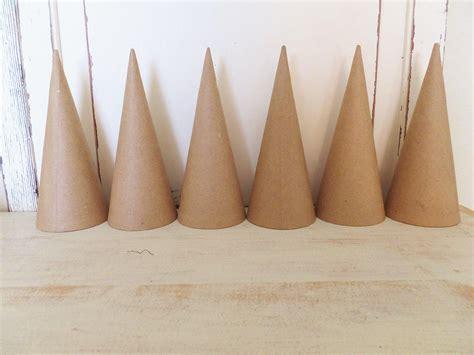 dozen paper mache cones  craft supply holiday etsy