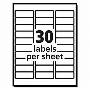 20 sheets 30 labels per sheet avery easy peel laser for Avery mailing labels 30 per sheet