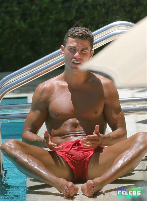 Cristiano Ronaldo Sunbathing At The Pool In Miami Gay