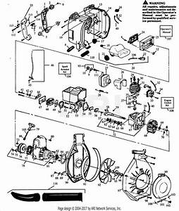 Poulan Bv165 Gas Blower Parts Diagram For Blower Assembly