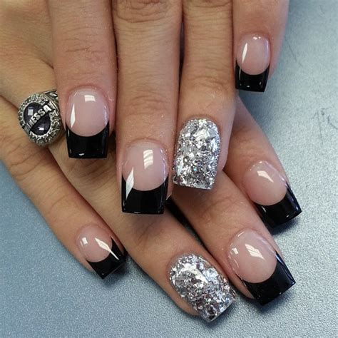 black and silver nail designs 30 awesome acrylic nail designs you ll want in 2016