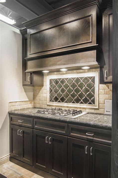ceramic subway tile kitchen backsplash artisan arabesque ceramic tile focal point with sandlewood