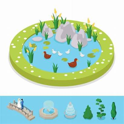 Water Fountain Cartoon Sign Vector Clip Park