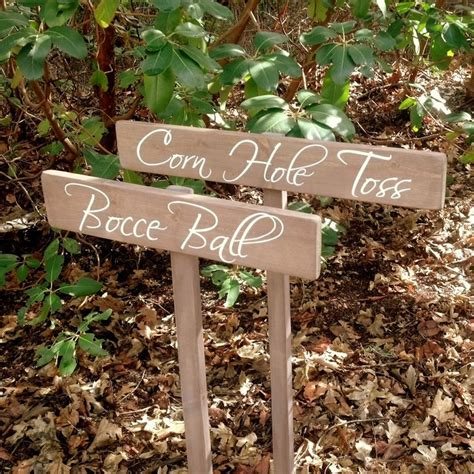 Wedding Yard Game Signs - Custom Wedding Signs - Corn Hole ...