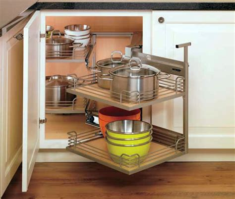 corner rotating kitchen cabinet clever corner storage ideas for your kitchen talmadge 5862