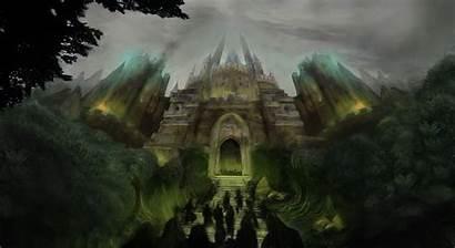 Castle Wallpapers Deviantart Desktop Fantasy Painting Resolution