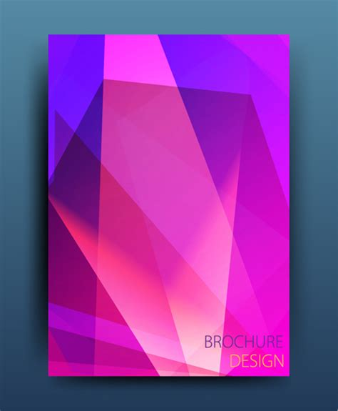 magazine  brochure colored abstract cover vector