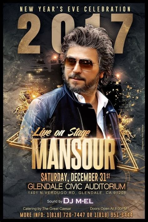 Mansour Live In New Year's Eve Celebration  Glendale, Ca