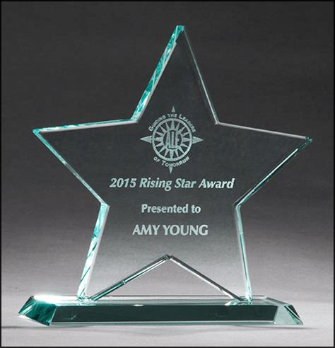 stand  glass star  glass crystal glass awards