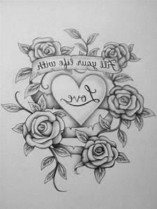 Love Flower Hd Images With Drawing With Pencil Heart And ...