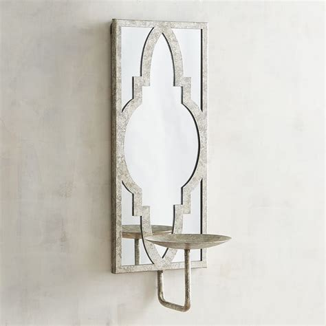 silver candle wall sconces silver mirrored candle holder wall sconce in 2019