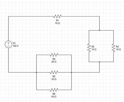 Solving Simple Circuit Diagram With Single Voltage