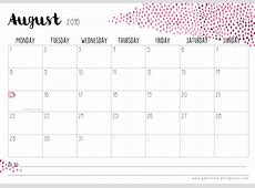 Kalender 2016 'Watercolour' – Free Print – Pearodie