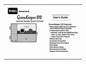 Toro Greenkeeper 212 User Manual