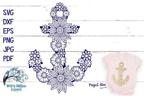 Check out our free mandala svg selection for the very best in unique or custom, handmade pieces from our shops. Floral Anchor SVG | Nautical Mandala SVG Cut File (270116 ...