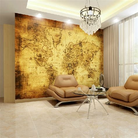 livingroom world custom large mural hotel bedroom living room tv background