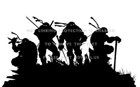 silhouette teenage mutant ninja turtles