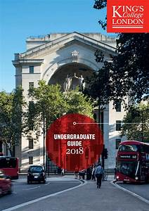 Undergraduate Guide 2018 By King U0026 39 S College London
