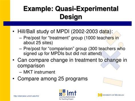 quasi experimental design ppt measuring effectiveness in mathematics education for