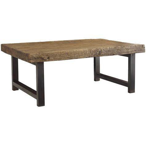 wood coffee table with metal legs rustica iron leg coffee table 48 quot zin home