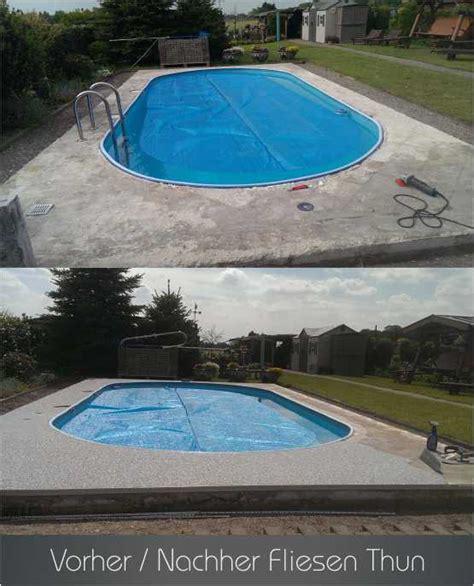 Schwimmen Vorher Nachher by Referenzen Vorher Nachher Steinteppich In Nrw