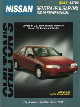 chilton car manuals free download 1996 nissan sentra instrument cluster 1982 1996 nissan sentra pulsar nx chilton s total car care manual