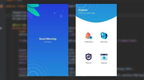 splash home mobile ui design animation adobe xd  android