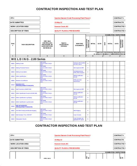 simple test plan template test plan template 11 free word pdf documents free premium templates