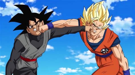 Back To The Future Wallpaper Hd Goku Finally Fights Goku Black In 39 Dragon Ball Super 39
