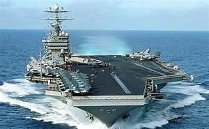 Navy Ship  Uss George Washington 7th Fleet Aircraft Carrier