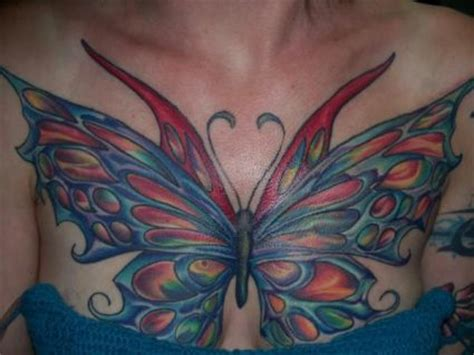 butterfly tats  chest tattoo  itattooz