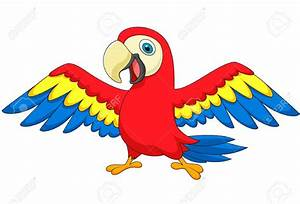 Cute Parrot Bird Cartoon Royalty Free Cliparts Vectors And ...
