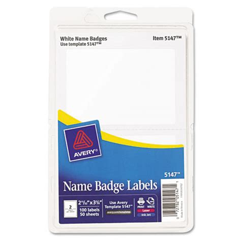 Avery Id Badge Template by Bettymills Avery 174 Removable Adhesive Print Or Write Name